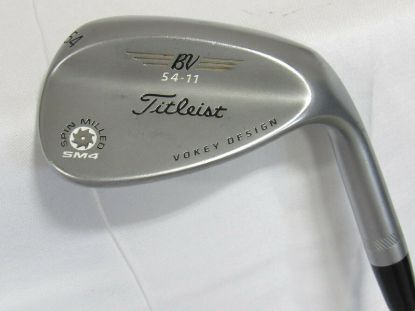 Picture of Used Titleist Vokey SM4 Chrome Single 54* Wedge - Wedge Flex Steel